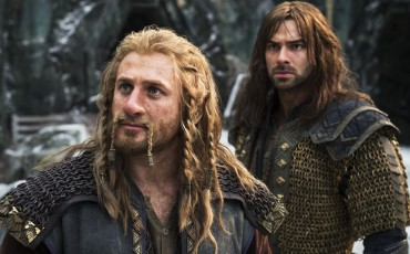 Still of Dean O'Gorman and Aidan Turner in El Hobbit: La batalla de los cinco ejércitos