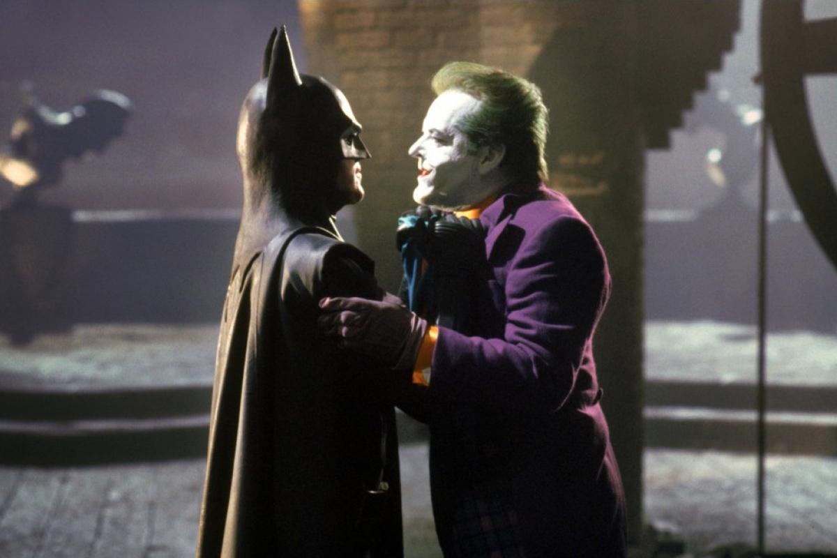 """Michael Keaton y Jack Nicholson en la primera entrega de """"Batman"""", de 1989."""