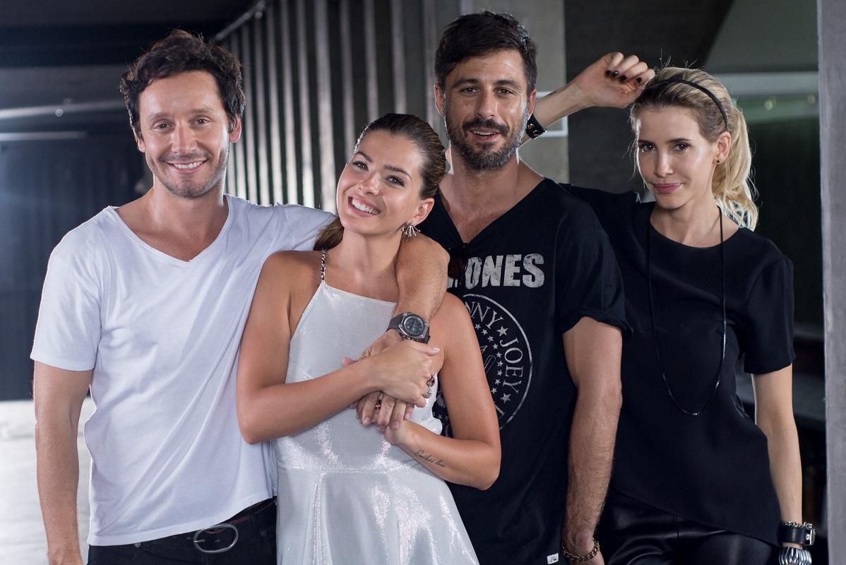 Vicuña y Suárez junto a Hugo Salas y Guillermina Valdés, sus coprotagonistas