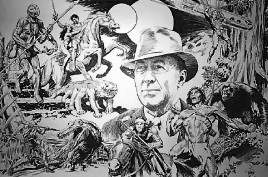 Burroughs y su personaje.