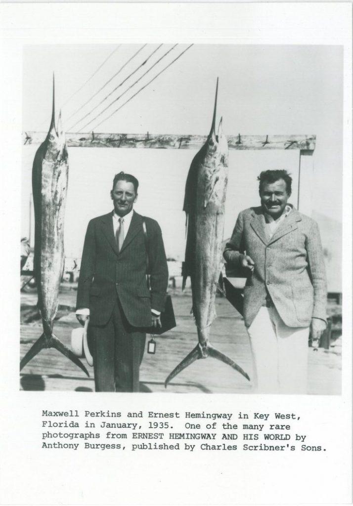 Perkins y Hemingway de pesca.