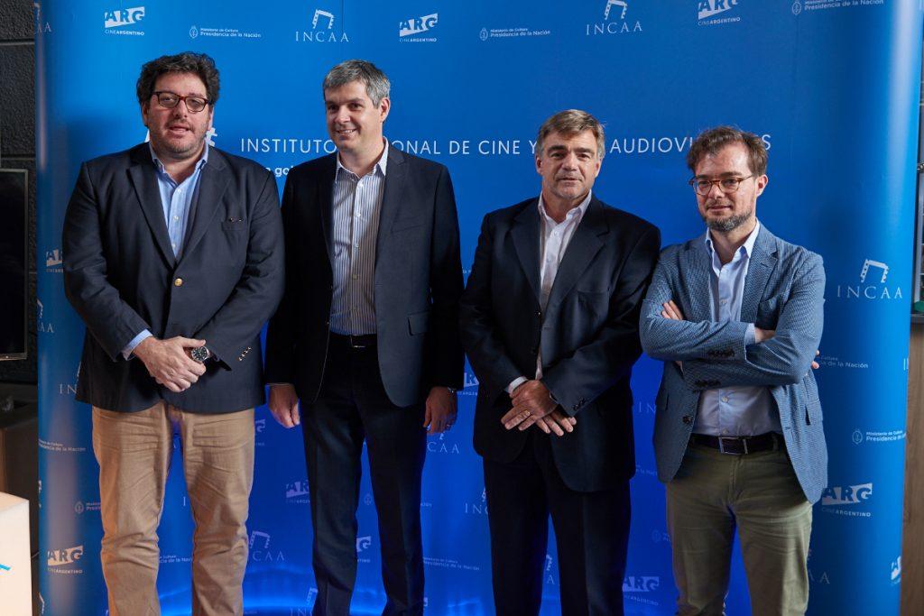 Avelluto, Peña, Cacetta y Avogadro en la presentación del Plan de Fomento.